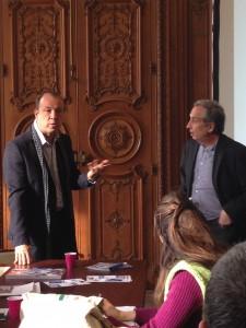 Présentation du pôle Creamed par Nicolas Pélissier à José Cucurullo